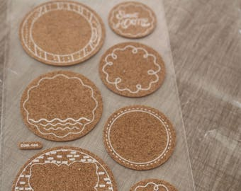 Cork label STICKERS
