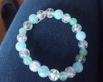 Quartz and jade beads