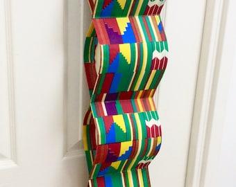 Für Hängen Große Bunte Abstrakte Baumwolle Drucken Stoff Papier  Toilettenpapierhalter (x5) Lagerung Veranstalter Afrikanischen Kente Schnur  Griff