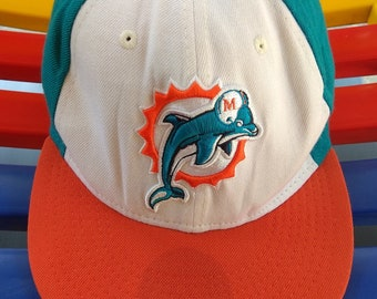 Vintage Miami Dolphins NFL New Era Snapback Hat Cap Baseball Adjustable  Orange Straps 5cc2732e5