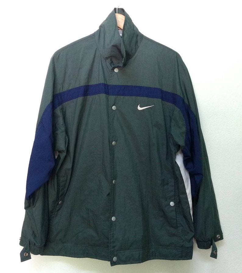 c6eda113890d Vintage 90s Nike Button Windbreaker Jacket Hip Hop Size L