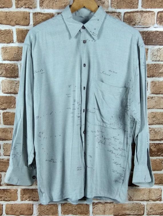 Vintage Alviero Martini Long Sleeve Shirt Designer