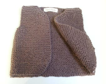 Vest Shepherd 12-18 months - 50% worsted wool & Alpaca