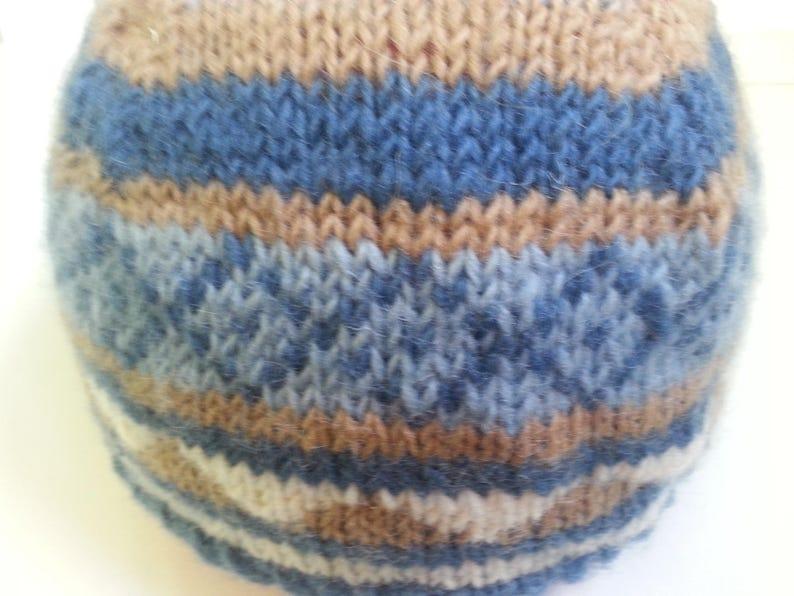 52691ef1c6 Bonnet jacquard 100 % pure laine T 49-52 2/4 ans | Etsy