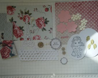 Kit to make a birthday card with a Magnolia character