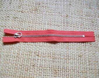 Zipper size 15, 5cm, salmon, black or brown