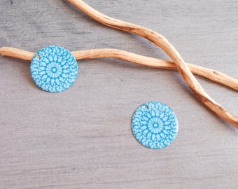 X 2 turquoise and light turquoise sequins