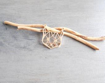 Cat Head pendant gold