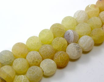 Pearl agate eflorescence 8 mm yellow set of 5
