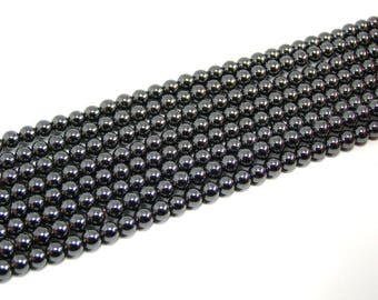 General Hematite round 4 mm set of 25 beads