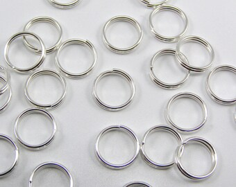 Set of 100 double 8 mm thickness 0.8 mm rings