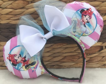 Fun at the Beach Minnie Mouse Ears - One Size - Adult/Child