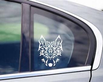 24690405f Tribal Wolf decal, tribal artwork,tribal clipart,tribal animal art,tribal  stickers,car decals designs,mini vinyl stickers,decals,stickers