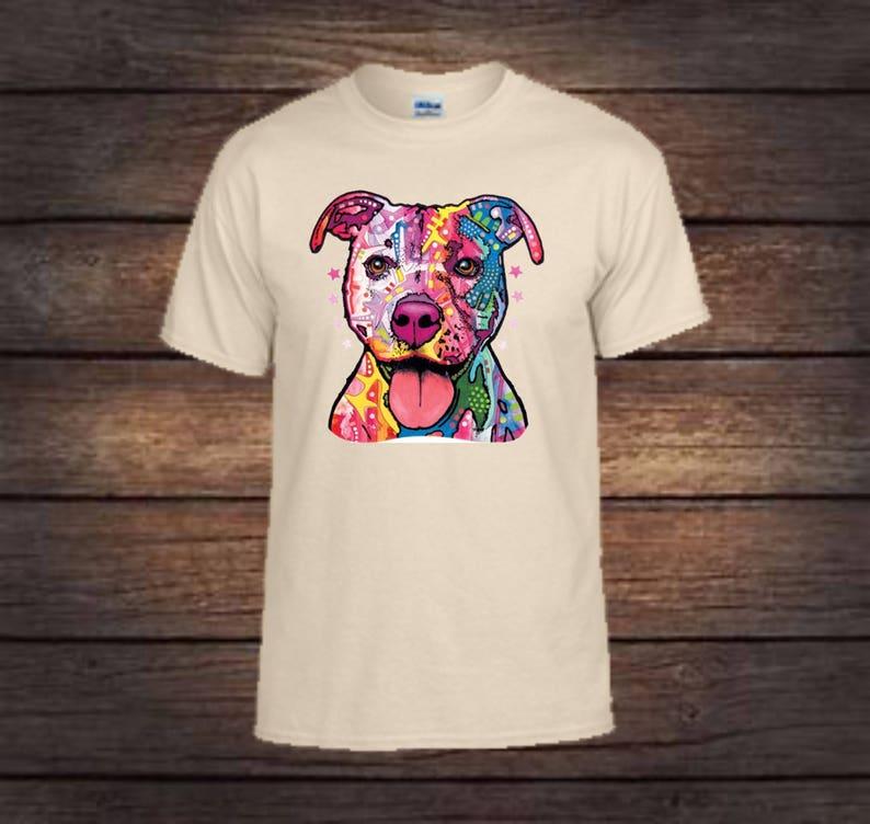 988439022 Neon pitbull T-shirt/ dog lover gift/pitbull/pit | Etsy