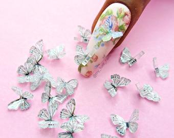 Nail Art 3D Butterfly 3D Butterflies | Resin | Bugs | Nail Art | Nail Charms | Nail Decoration | Kawaii | Craft | Decor