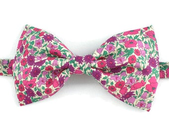 Bowtie Liberty bud and Petal Pink
