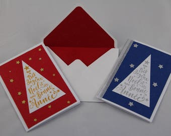 """Merry Christmas & happy new year"" greeting cards"