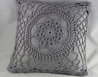 Crochet pillow, cushion, pillow, crochet mandala