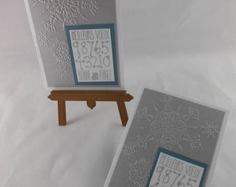 Set of 2 happy new year greeting cards