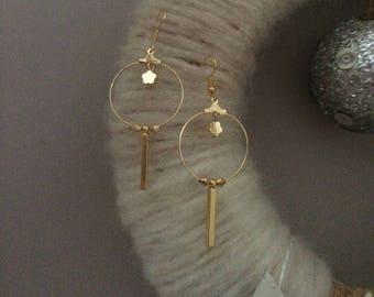 pierced creole earrings