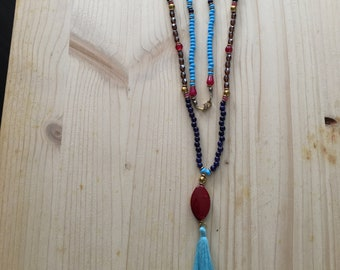colorful long necklace