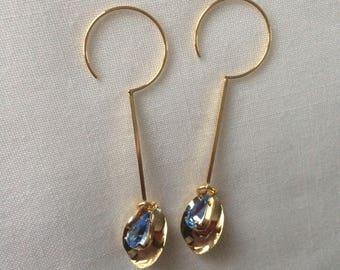 pierced plated earrings 16 k gold