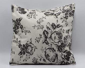"Cushion cover in Cath Kidston Tea Rose Stripe  fabric 17/"" 43cm square"