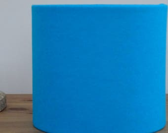 Handmade Wool Felt Fabric Lampshade Bright Blue