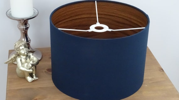 Leather Look Handmade Lampshade In Black 30cm Contemporary