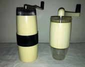 2 Coffee Mill of the Czechoslovakian firm MIKRO Super and Bulgarian firm JC. Antique Coffee Grinder. Old Coffee Mill