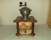 Decore coffee mill from the German firm PeDe Peter Dienes. Ca. 1914. Antique Coffee Grinder. Old Coffee Mill