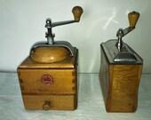 2 Coffee Mill German firm Klingenthal. Ca. Antique 1950 60. Antique Coffee Grinder. Old Coffee Mill