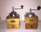 2 Coffee Mill of the German firm Schwarzwaldmühle BLACK FOREST. Antique Coffee Grinder.