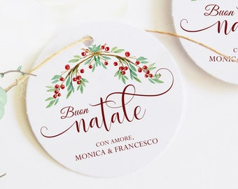 Christmas labels, personalized labels, merry Christmas tags, close Christmas pack, name tags