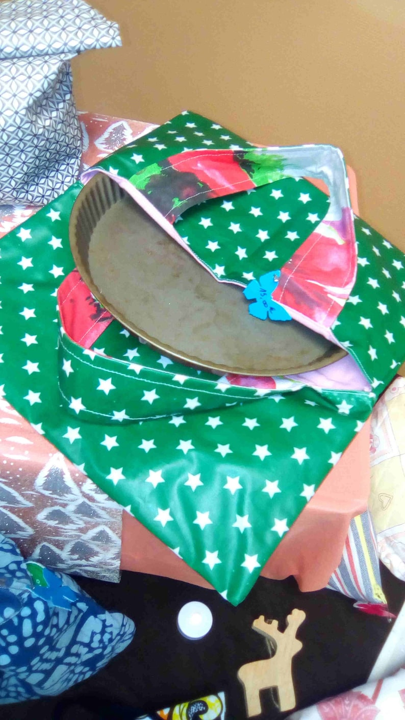 Pie in triple thickness with coated cotton bag