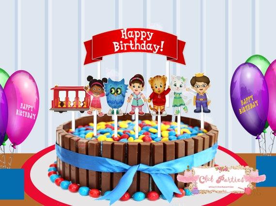 Daniel Tigger Cake Topper Birthday