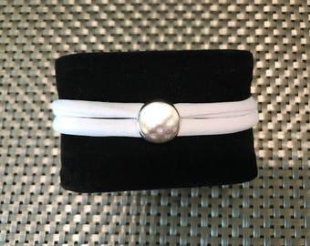 Trendy white men's bracelet