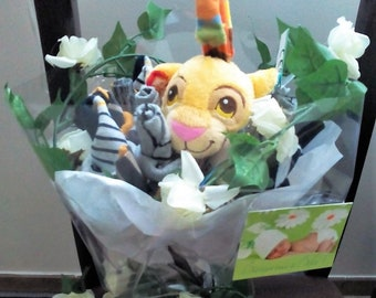 Baby boy jungle bouquet