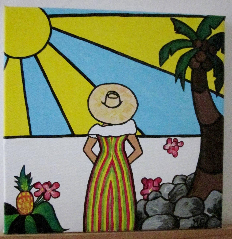 tableau décoration murale ambiance créole | etsy