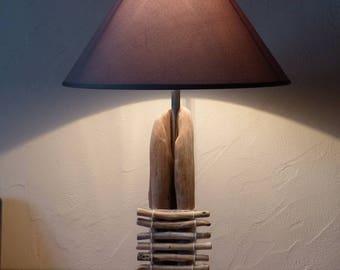 Suspension luminaire plafonnier recyclage bois flotté en