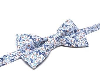 7da4c097040fd Noeud papillon Liberty Eloïse bleu / 7015-D