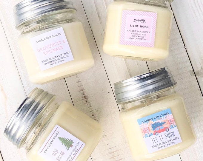 PICK A SCENT! Mason Soy Candle.