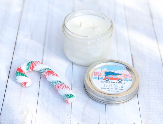 Let It Snow Soy Candle,Candle, Candles,Soy Candles,Natural Candles,Home Decor,Gift idea,Christmas decor,Christmas candles,Holiday candles