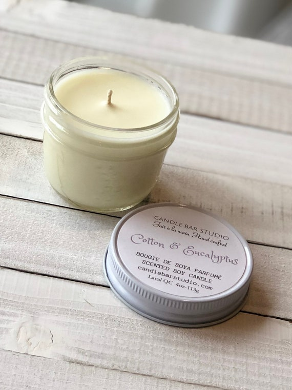 Cotton and Eucalyptus Soy Candle (small)
