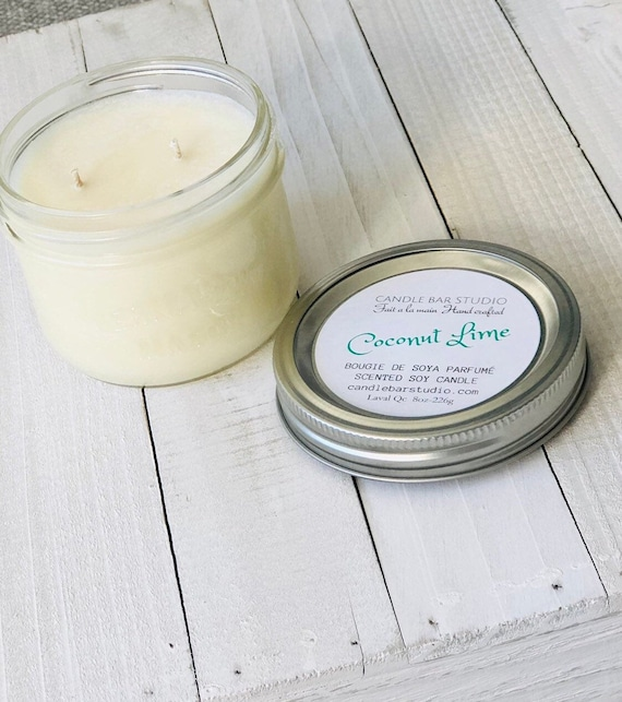 Coconut Lime Soy Candle (medium)