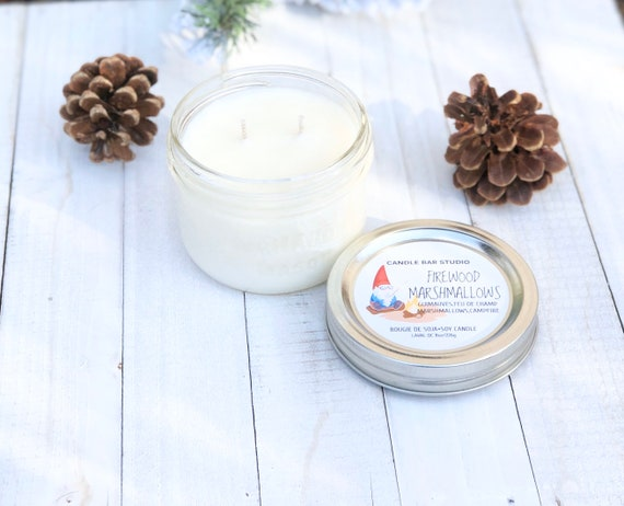 Firewoood Marshmallows Soy Candle