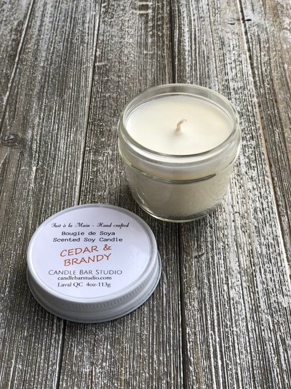 Cedar and Brandy Soy Candle (small)