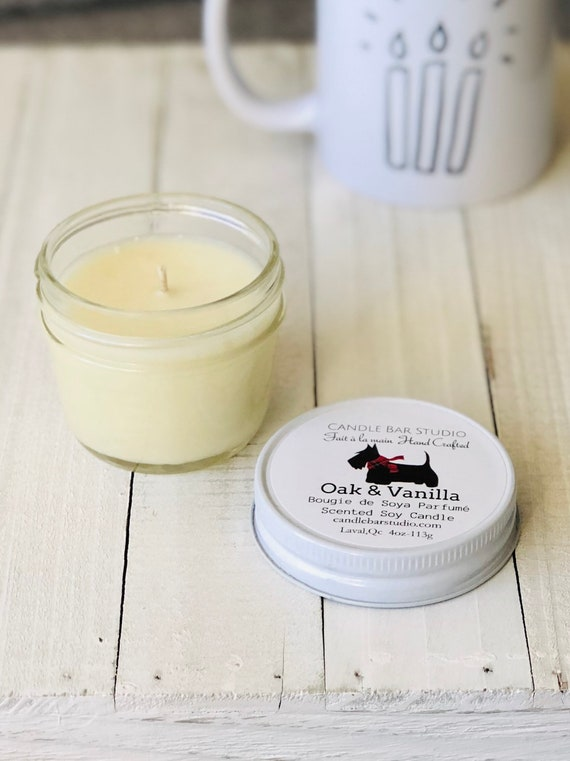 Oak and Vanilla Soy Candle (small)
