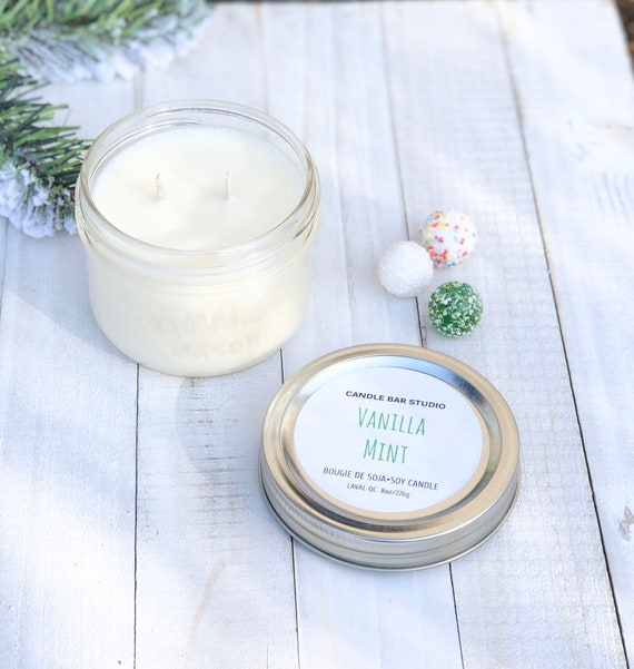 Vanulla Mint Soy Candle