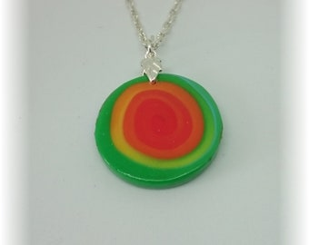 Collection flood of color - reversible discreet pendant on chain